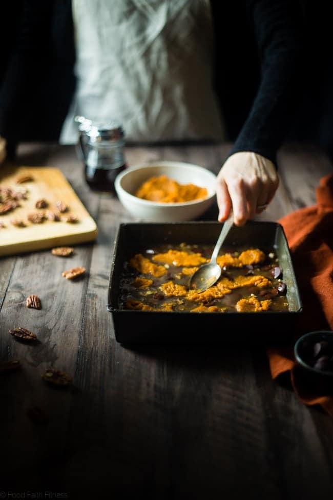 Pumpkin Spice Paleo Magic Cookie Bars | Food Faith Fitness