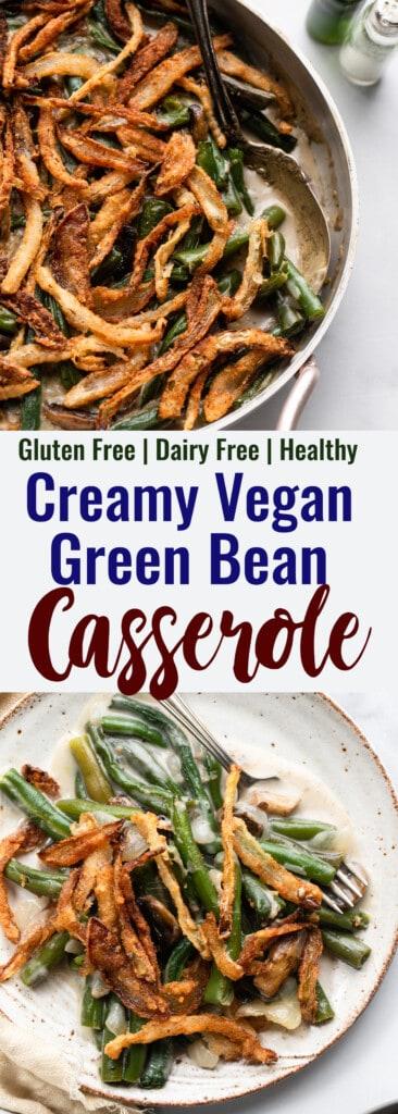 Dairy Free Vegan Green Bean collage photo