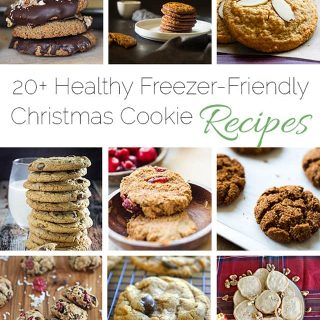 20+ Healthy Freezer-Friendly Christmas Cookie Recipes - A roundup of 20+ healthy, freezer-friendly Christmas cookies in one place! | Foodfaithfitness.com | @FoodFaithFit
