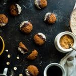 Chocolate Hazelnut Healthy Ginger Snap Recipe with Coffee