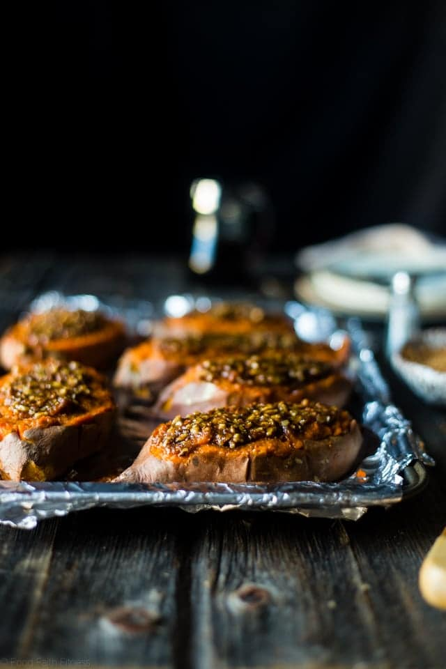 Pecan Pie Healthy Stuffed Sweet Potatoes