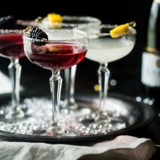 Healthy Champagne Cocktails: Blackberry Raspberry and Mango Coconut