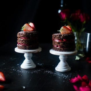 Strawberry Gluten Free Chocolate Cake For Two