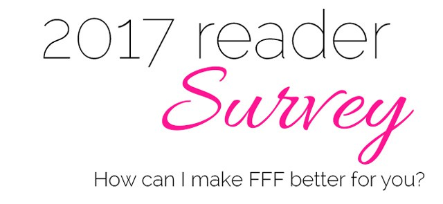 Help me make Food Faith Fitness better for you by taking this short, 10 question survey!