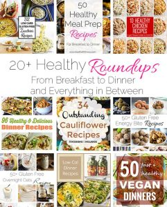 The ULTIMATE Healthy Roundup - 20+ healthy recipe roundups, from breakfast to dinner and everything in between! Hundreds of healthy recipes in one place!   FoodFaithfitness.com   @FoodFaithFit