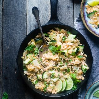 Larb Gai Thai Chicken Skillet