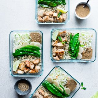 Chicken Satay Meal Prep Bowls