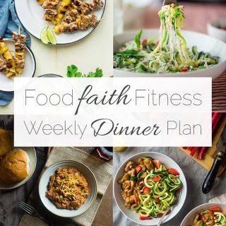 Food Faith Fitness Weekly Dinner Plan –  Week 3