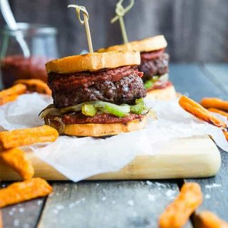 Cajun Burgers with Sweet Potato Buns