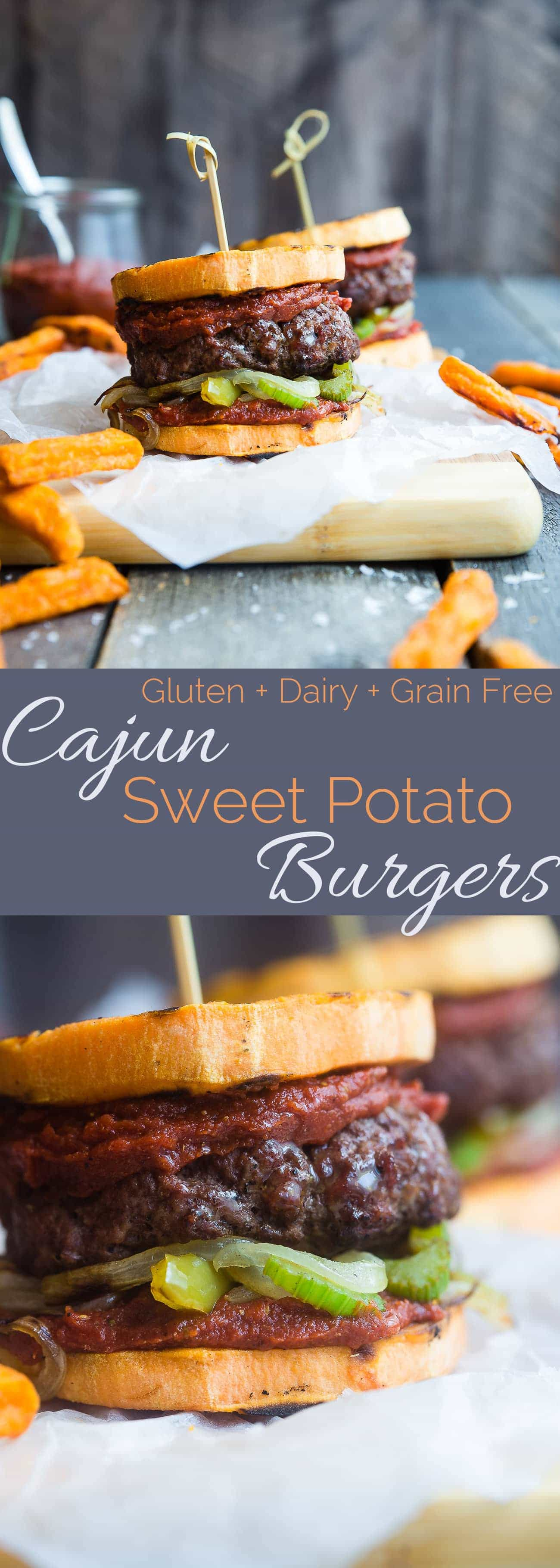 cajun burgers with sweet potato buns food faith fitness