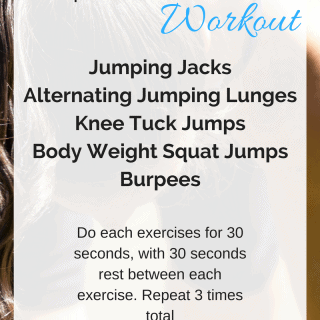 "15 Minute ""Jump Around"" HIIT Workout -  A high intensity workout, that requires no equipment, and will only take you 15 minutes! 
