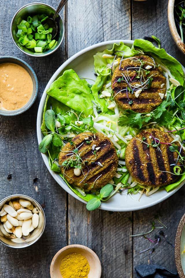 Thai Veggie Burger Recipe with Curry