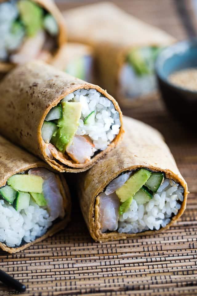 Sushi Burrito Recipe Food Faith Fitness