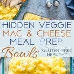 Hidden Veggie Healthy Mac and Cheese Meal Prep Bowls - An easy, gluten free, make-ahead lunch to get your family to eat veggies without complaining! Only 300 calories and perfect for school lunches! | Foodfaithfitness.com | @FoodFaithFit