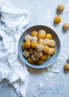 3 Ingredient No Bake Apricot Cashew Energy Bites -These kid-friendly, vegan energy bites are a quick and easy, healthy snack for busy days! Gluten free and paleo friendly too! | Foodfaithfitness.com | @FoodFaithFit