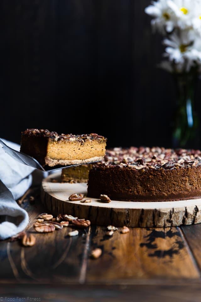 Chai Gluten Free Pumpkin Cheesecake | Food Faith Fitness
