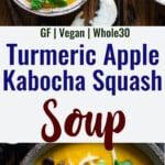 Kabocha Squash Soup collage photo