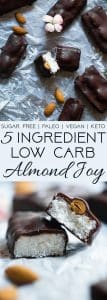 Low Carb Almond Joy Bars - These homemade paleo almond joy bars are a healthy, low carb remake of the classic candy bar that you will never believe are sugar, dairy, grain and gluten free! | Foodfaithfitness.com | @FoodFaithFit