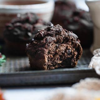Chocolate Healthy Gluten Free Pumpkin Muffins