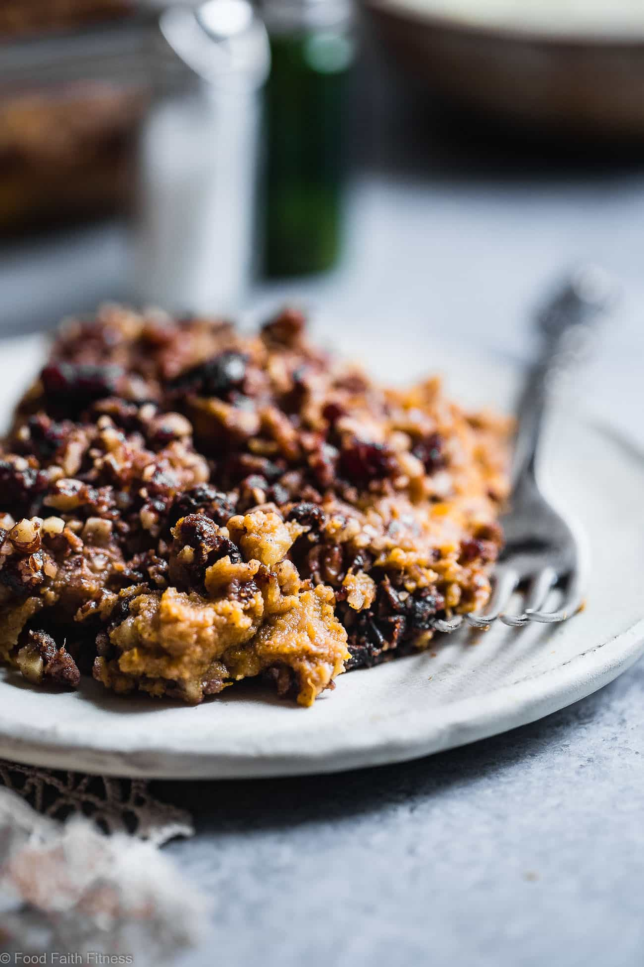 Paleo Easy Vegan Sweet Potato Casserole with Pecan Topping - the best side dish for Thanksgiving! No one will believe it's vegan friendly, whole30 compliant and gluten/grain/dairy/sugar AND egg free! | Foodfaithfitness.com | @FoodFaithFit