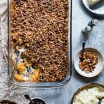 Paleo Easy Healthy Sweet Potato Casserole with Pecan Topping
