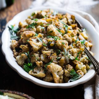 Cauliflower Low Carb Paleo Vegan Stuffing