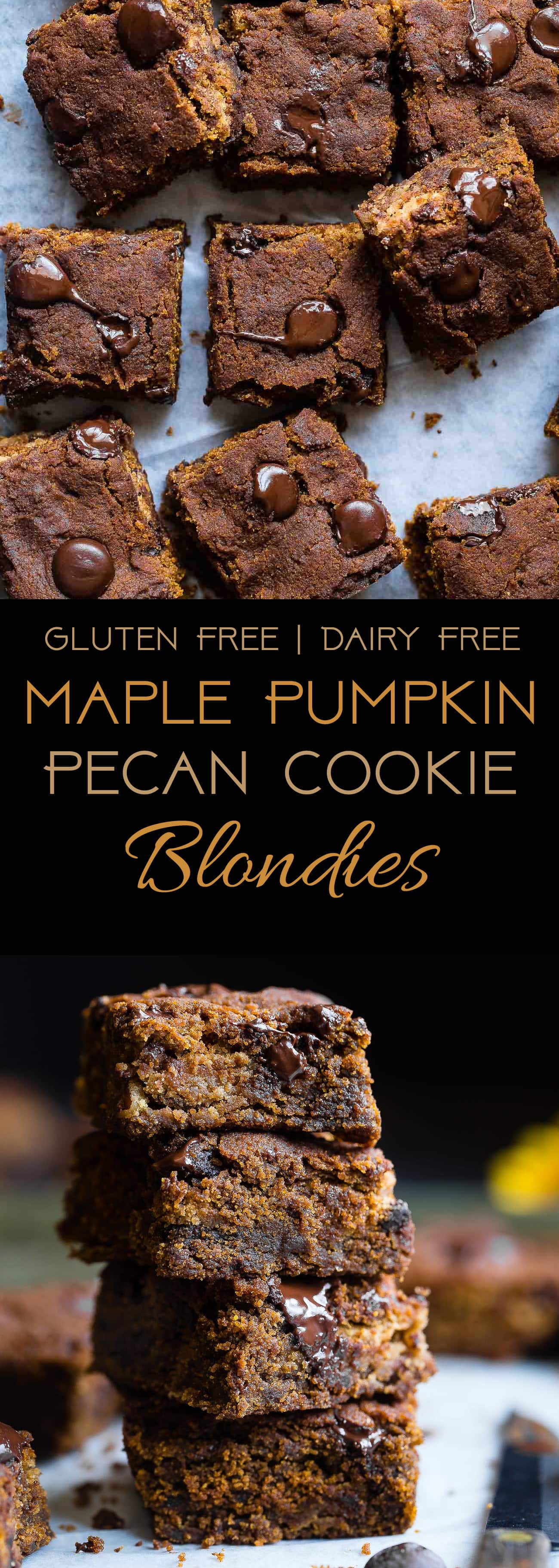 Cookie Stuffed Pumpkin Blondies - Cookies are baked right inside these healthier pumpkin brookies! They're so dense and chewy you'll never know they're gluten and dairy free! | Foodfaithfitness.com | @FoodFaithFit | Gluten Free Pumpkin Blondies. Easy Pumpkin Blondies. Chocolate Chip Pumpkin Blondies. Pumpkin Brownies. Healthy Pumpkin Brownies. Pumpkin Brownies Recipe. Easy Pumpkin Brownies. Pumpkin Brownies from Scratch. Gluten Free Pumpkin Brownies. Flourless Pumpkin Brownies.