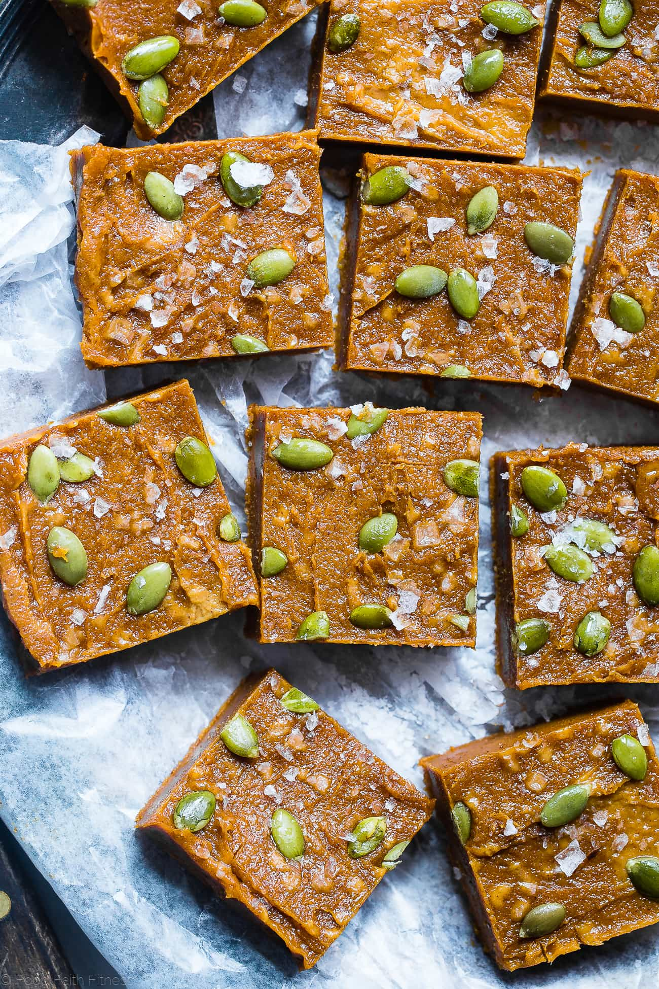 Sugar Free Vegan Pumpkin Freezer Fudge - This sugar free fudge requires only a few minutes to make and is naturally sweetened with dates! It's gluten, grain and dairy free and SO creamy! | Foodfaithfitness.com | @FoodFaithFit