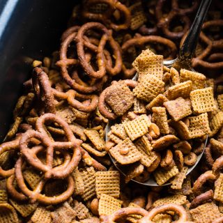 Homemade Crock Pot Chex Mix with Honey Mustard