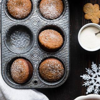 The BEST Healthy Gluten Free Gingerbread Muffins  - This truly is the best healthy gingerbread muffin recipe! Dairy and egg free, vegan friendly and only 5 ingredients and perfect for Christmas morning! | Foodfaithfitness.com | @FoodFaithFit