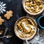 Gingerbread Protein Oatmeal - This quick and easy, high protein oatmeal tastes like waking up and eating a gingersnap cookie! It's a healthy, gluten free breakfast for kids and adults and it's ready in only 10 minutes! | Foodfaithfitness.com | @FoodFaithFit