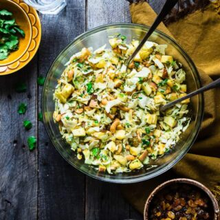 Shredded Cabbage Salad with Apples and Curry