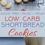 Paleo Whipped Gluten Free Shortbread Cookies -These easy shortbread cookies actually melt in your mouth and are only 60 calories! They're secretly sugar free, healthy and vegan/keto friendly too! | Foodfaithfitness.com | @FoodFaithFit
