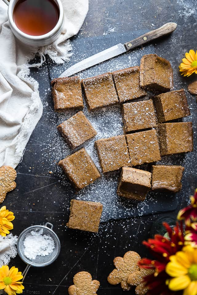 Gingerbread Dairy Free Paleo Cheesecake Bars