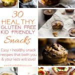 30 Healthy Gluten Free Kid and Adult Friendly Snacks - All 30 of these healthy, easy snack recipes will please both picky kids and adults! They're portable for on-the-go and totally delicious and nutritious! | #Foodfaithfitness | #Healthy #Kidfriendly #Snacks #GlutenFree #HealthySnacks