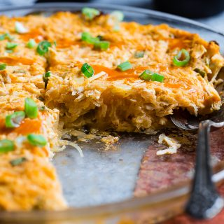 Paleo Buffalo Chicken Casserole with Spaghetti Squash