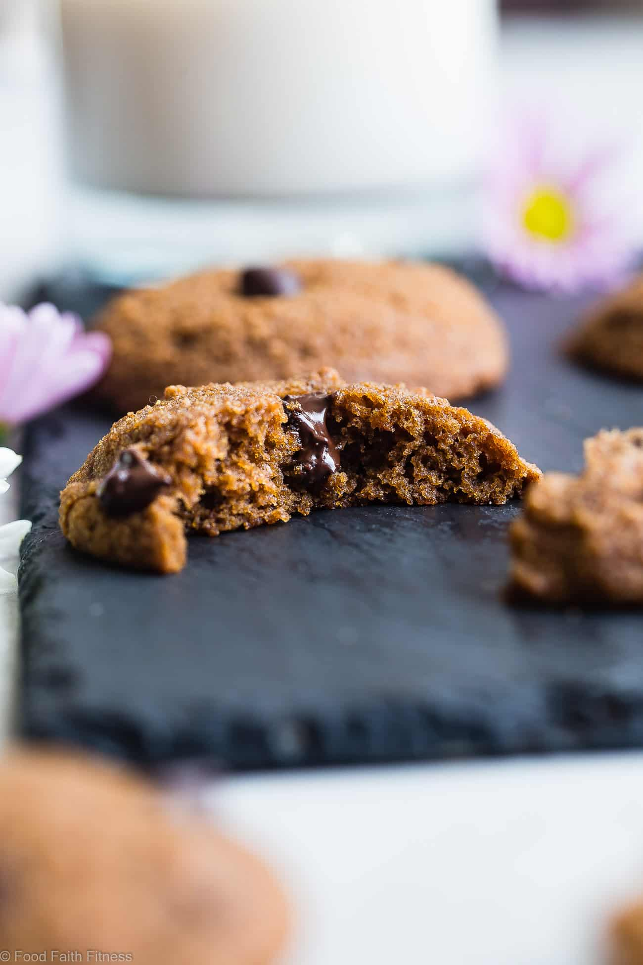Paleo Coconut Flour Chocolate Chip Cookies -These EASYpaleo friendly cookies are buttery, soft, chewy and SO rich and chocolaty! You won't believe they are gluten, grain and refined sugar free! | Foodfaithfitness.com | @FoodFaithFit