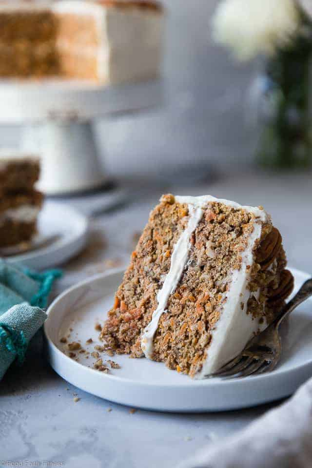 Healthy Gluten Free Sugar Carrot Cake