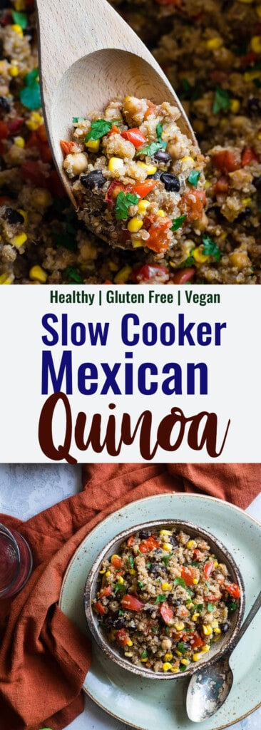 mexican quinoa collage photo