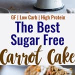 sugar free carrot cake collage photo