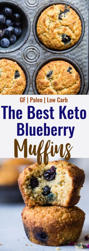 Keto Muffins collage photo