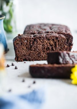 Easy Chocolate Paleo Zucchini Bread -This gluten free zucchini breadis secretly packed with protein and collagen to support healthy skin and bones! It's a healthy, breakfast or snack for kids and adults, and freezes great! | #Foodfaithfitness | #FoodFaithFit | #Paleo #Glutenfree #Collagen #Chocolate #Healthy