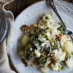 Easy Cheesy Broccoli Loaded Cauliflower Casserole
