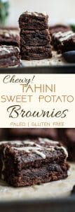 Paleo Sweet Potato Brownies - These healthy brownies areSO dense, chewy and moist! No one will believe they use sweet potato and are gluten/grain/dairy and refined sugar free!   #Foodfaithfitness   #Paleo #Glutenfree #Healthy #Brownies #Grainfree