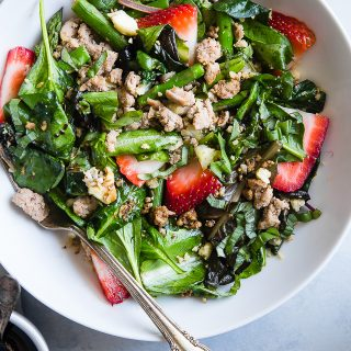 Strawberry Balsamic Paleo Cauliflower Rice Ground Turkey Skillet
