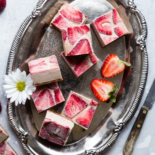Strawberry No Bake Gluten Free Paleo Lemon Bars