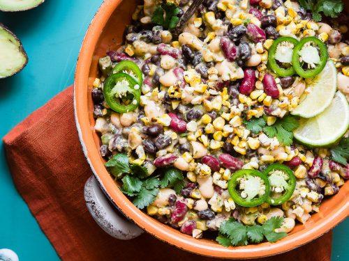Three Bean Mexican Corn and Black Bean Salad