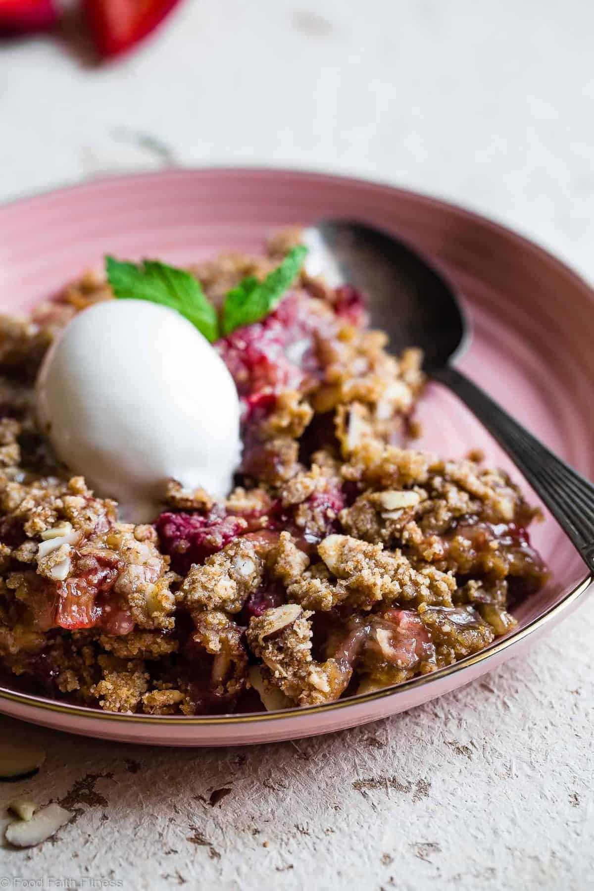 Easy Gluten Free Strawberry Rhubarb Crisp  This Healthier Strawberry