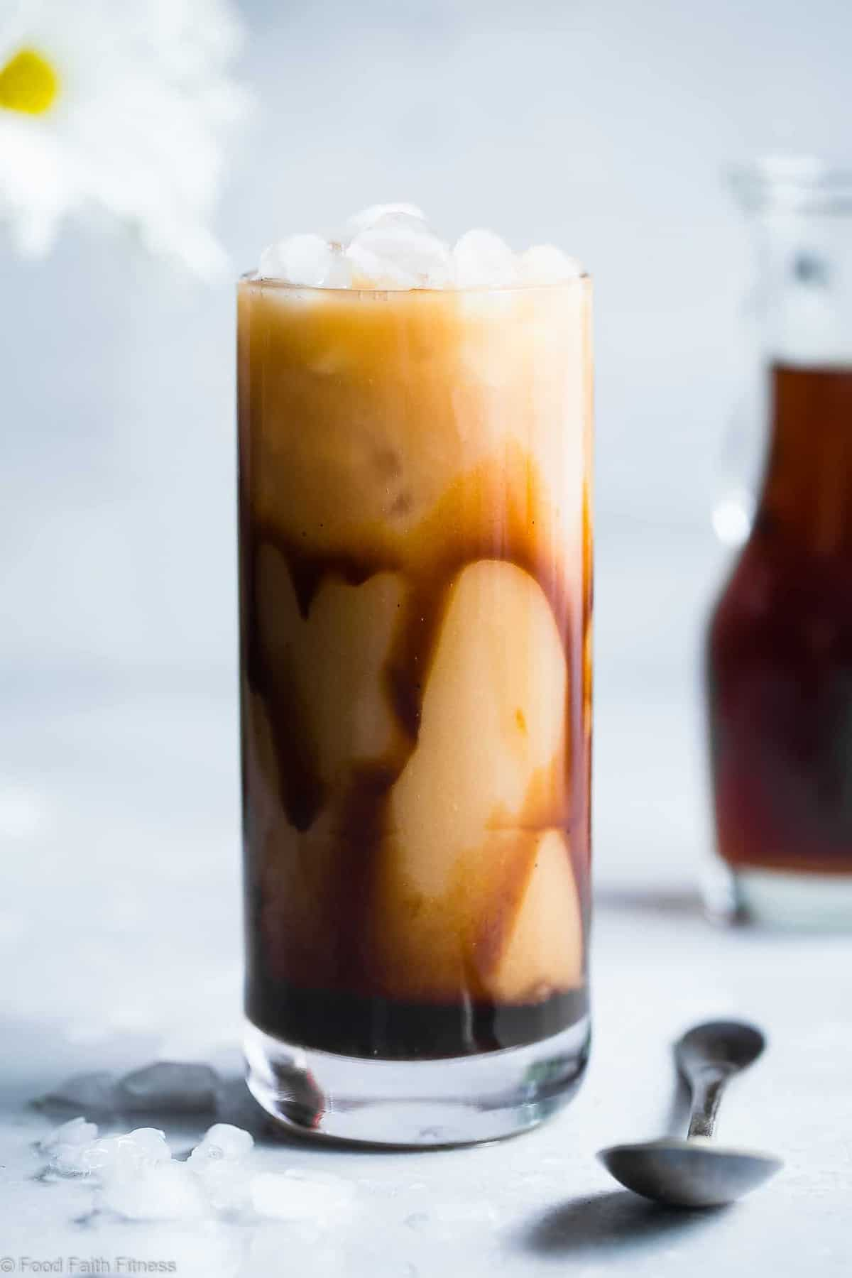 HOMEMADE CARAMEL VANILLA ICED COFFEE