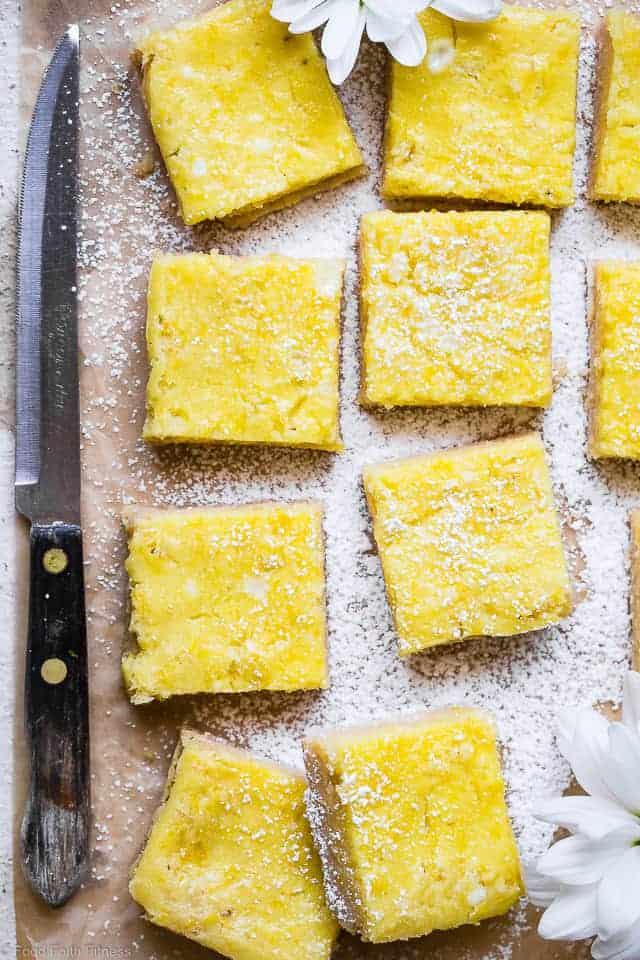 Sugar Free Keto Low Carb Lemon Bars Food Faith Fitness